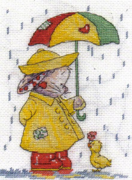 Somebunny To Love April Showers Cross Stitch Kit